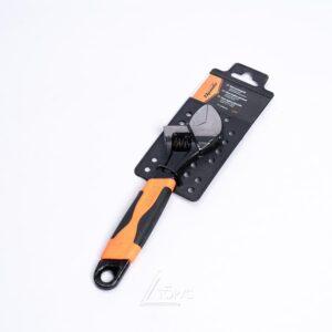 Ключ разводной SPARTA 200мм двухкомп. рукоятка 15542