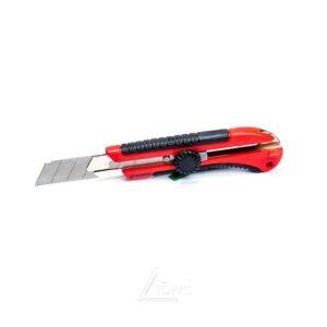 Нож с мет,направ.18мм с обрезиненной руч,(HT-0503)