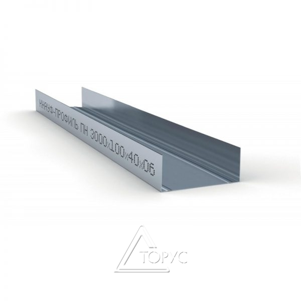 Профиль КНАУФ UW-100 3 м (0,60 мм)