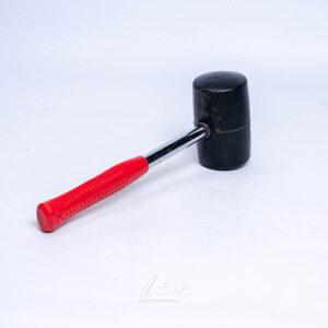 Киянка резиновая 450г.D=65мм,чёрная резина,дер.руч