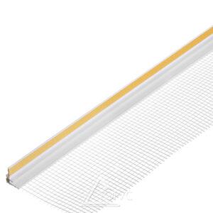Приоконный профиль ПВХ 3мм с сеткой 2,4м белый