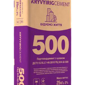 Цемент ПЦ-500 А Д20 Кр.Рог-Завод (25 кг)
